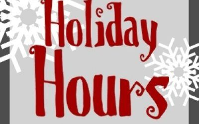 Christmas & New Year's Hours 2017